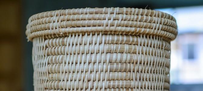Alimenti trasportati nei cestini realizzati in tutta l'Arborea