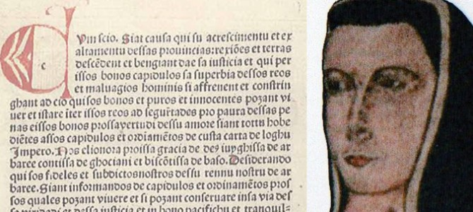 Il mito di Eleonora e l'importanza della Carta de Logu