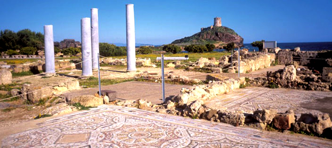 Nora, fondée par les Phéniciens et exploitée par les Romains