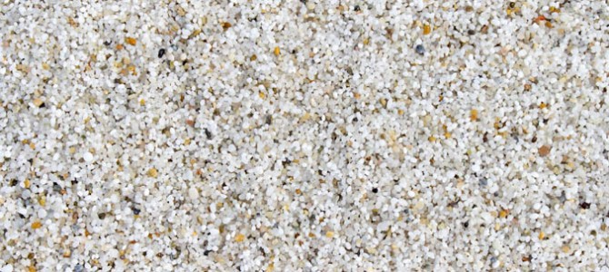 Lot of silica sand, but the glass is worked only in few places