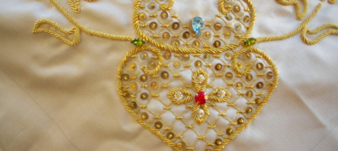 Oristano, the Sartiglia's costumes embroidered with gold