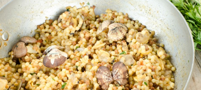 Fregola, a first course…always welcome