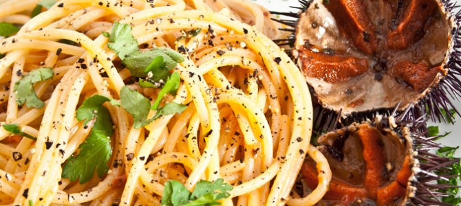 Spaghetti with sea urchin – recipe