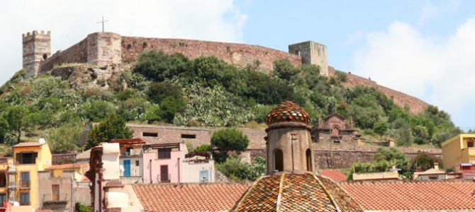 Bosa defended by many towers and by the castle