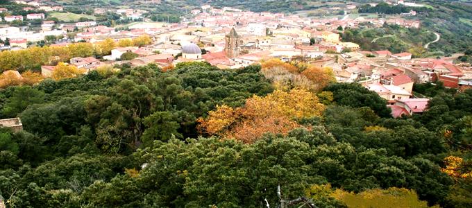 In Laconi the widest limestone plateau in Sardinia
