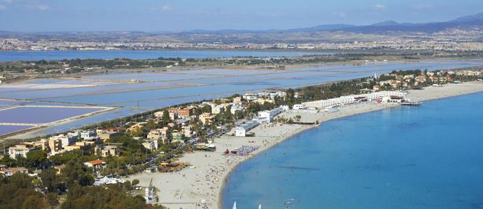 Poetto Beach (Cagliari, province of Cagliari) - Sardinia ...