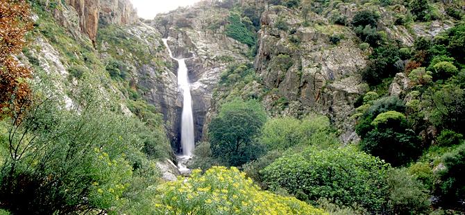 Cascata Sa Spendula, una delle poche cascate perenni in Sardegna