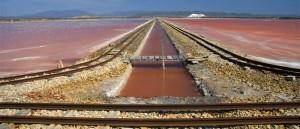 Salt mine in Sant'Antioco, Sardinia