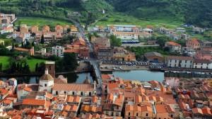 Bosa vista dal Castello di Serravalle