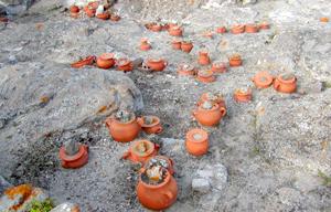 sito archeologico di Sant'antioco dove si trova il tofet con urne cinerarie, di ceneri sacrificali