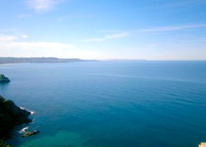vista sul mare aperto dal golfo del leone a gonnesa
