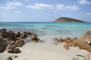 Spiaggia riparata dal maestrale, Tuerredda, Teulada