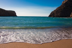 Spiaggia riparata dal maestrale, Cala domestica, Buggerru