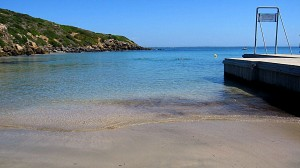 Spiaggia riparata dal maestrale, La Caletta, San Giovanni di Sinis, Cabras